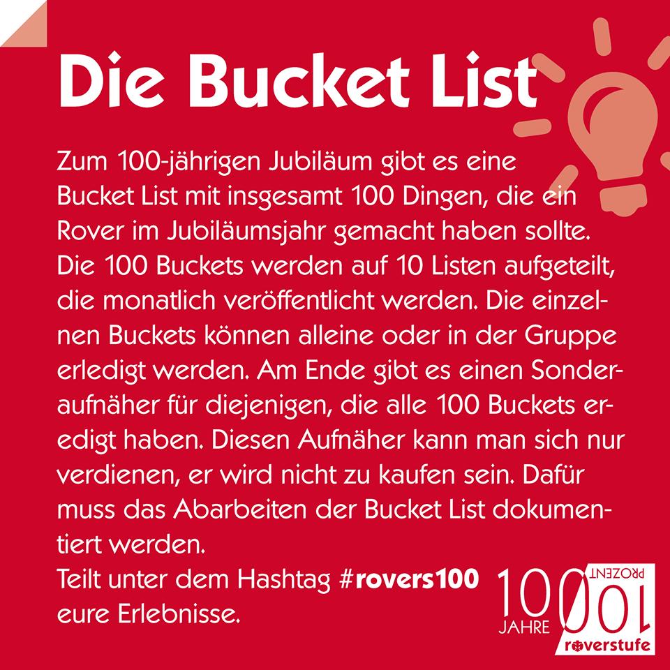 Bucket List Erklärung
